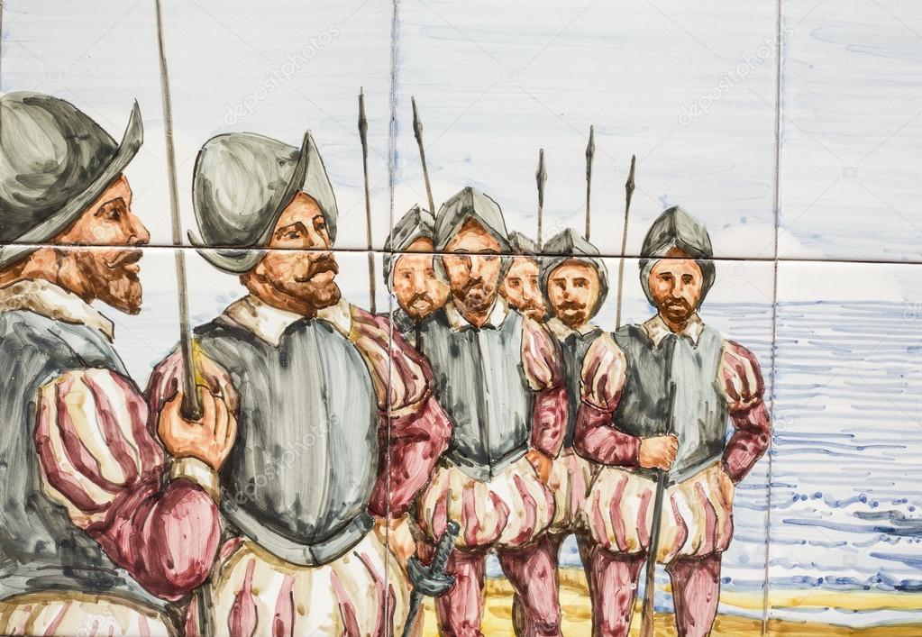 16 soldats espagnols de XIXe siècle — Photo éditoriale #100473536