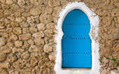 Blue painted doors — Stock Photo