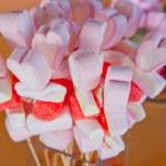 Heart shaped Marshmallows sticks — Stock Photo #54130353