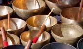 Tibetan Singing Bowls — Stock Photo
