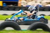 Having fun on a go cart — Stock Photo