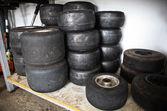 Loads of Karts wheels — Stock Photo