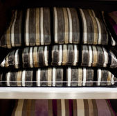 Striped cushions — Stock fotografie