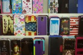 Colorful designs mobile phone decals — Stock Photo