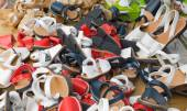 Loads of children shoes — Stock Photo