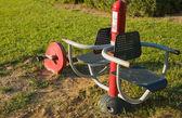 Public exercise equipment — Stock Photo