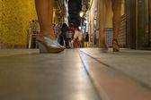 Restaurants and pubs area in Badajoz city — Stock Photo