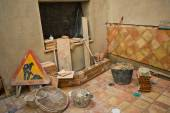 Incomplete rustic andalusian courtyard — Stock Photo