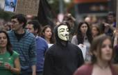 Anonymous on the crowd — Stock Photo