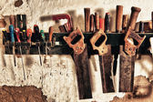 Old hand saws  — Stock Photo