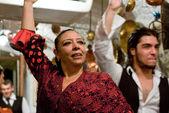 Flamenco performance at Sacromonte cave — Stock Photo