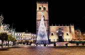 Cathedral square with christmas tree — Stock Photo