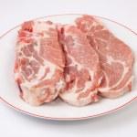 Middle rib chops of pork — Stockfoto #63816377