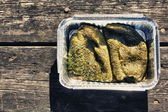 Green peppers picnic — Foto Stock