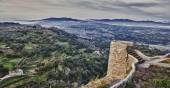 Rural area from castle, Spain — Stock Photo