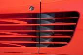 Ferrari Testarossa air intake scoop — Stock Photo