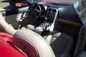 Red sports convertible car interior — Stock Photo