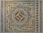 Mosaico romano geométrica — Foto de Stock