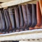 Leather boots of Valverde del Camino — Stock Photo #70749549
