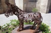 Platero donkey sculpture — Stock Photo