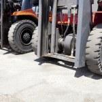 Forklift loaders tires — Stock Photo #73970361