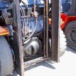 Forklift loaders tires — Stock Photo #73970503