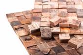 Wooden mosaic for decorative — Stock Photo