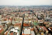 Mexico city aerial view with mountains and clouds DF — Stock Photo