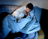 Young sick looking man suffering imental disorder or depression — Stock Photo