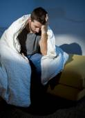 Young sick looking man suffering mental disorder or depression — Stock Photo