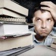 Man Overwhelmed and frustrated — Stock Photo #55319249