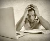 Young student man in stress — Stock Photo