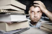 Man Overwhelmed and frustrated — Foto Stock