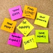 New year Resolutions Post it notes — Stock Photo #55773489