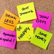 New year Resolutions Post it notes — Stock Photo #55773743
