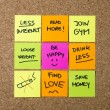 New year Resolutions Post it notes — Stock Photo #55774303