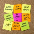 New year Resolutions Post it notes — Stock Photo #55774473
