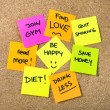 New year Resolutions Post it notes — Stock Photo #55776973