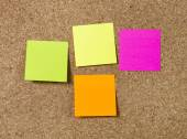 New year Blank Resolutions Post it notes with copy space — Stock Photo