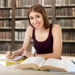 Young beautiful college student girl studying happy confident — Zdjęcie stockowe #66953001