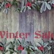Wood background winter sale — Stock Photo #54069035