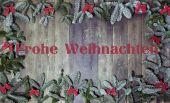 Wood background frohe weihnachten — Stock Photo
