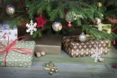 Christmas gifts vintage — Stock Photo