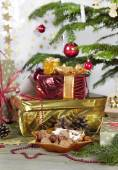 A lot of gifts for Christmas — Stockfoto
