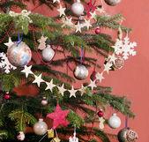 Decorated christmas tree — Stock Photo
