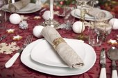 Christmassy table setting — Stock Photo