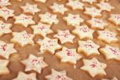 Christmas cookies with white chocolate — Stock Photo
