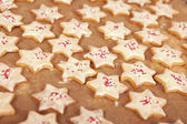 与白巧克力饼干的圣诞 — 图库照片