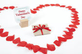 Valentines heart gift — Stock Photo