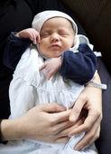 Infant on arm — Stock Photo